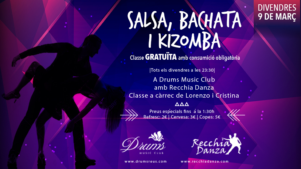 Salsa, Bachata i Kizomba al Drums!